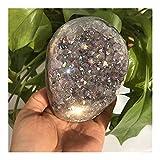 Artesanía de Piedra Hermoso clúster de Cristal galvanizado con Cristal Natural Reiki para Curar Accesorios de mobiliario (Size : 600-620g)