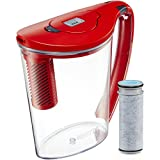 Brita Large 10 Cup Stream Filter as You Pour Water Pitcher with 1 Filter, Rapids, BPA Free,...