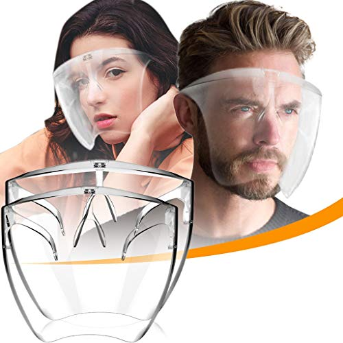 2/3/4/5/10pcs Durable Clear Face_Mask, Reusable Transparent Face_Shield for Adult, Visible Expression,Breathable and Prevent Glasses Fog, for Coronàvịrụs Protectịon Women Men (2PCS)