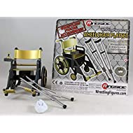 Wrestling Wheelchair Playset (Gold) - Ringside Collectibles Exclusive WWE Toy Action Figure Accessory Pack
