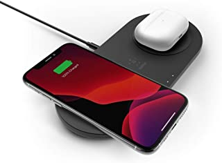 Belkin WIZ008AUBK Dual Wireless Charger (Dual Wireless Charging Pad 15W) Fast Charge 2 Devices at Once, Including iPhone, ...