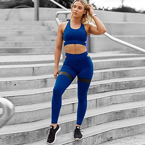 YANGCONG Yoga Fitness Bekleidung Maßgeschneidertes Yoga-Set Damen-Sportbekleidung Verdicken Push-Up-Sport-BH Streifenstrumpfhose Schnelltrocknend Fitness-Studio Fitness-Bekleidung Damen-Sportbekleid