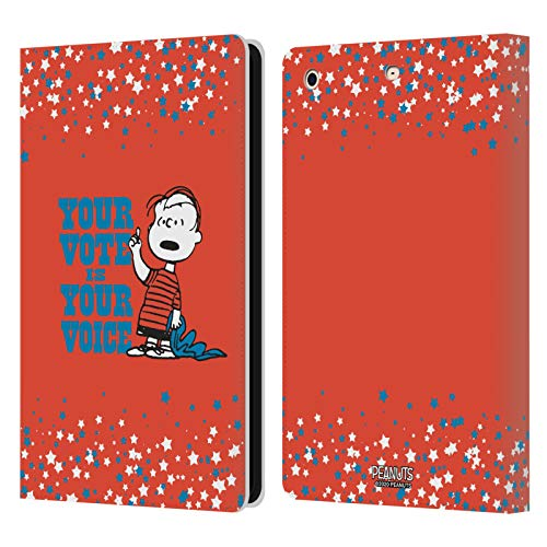 Official Peanuts Charlie Brown Your Vote Is Your Voice Leather Book Wallet Case Cover Compatible For Apple iPad mini 1 / mini 2 / mini 3