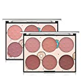 Pure Vie Professional 6 Colors Cream Blush Pressed Face Powder Makeup Palette Contouring Kit - Ideal for Professional as well as Personal Use #2