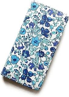 iPhone6sケース iPhone7ケース iPhone8ケース 手帳型 リバティ メドゥ (ブルー) コーティング SHOKO MIYAMOTO かわいい おしゃれ マグネット無しでカード安全 スマホケース アイフォンケース Liberty…