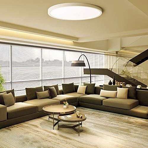 FSBMIN LED Deckenleuchte 24W 2160lm LED Platine 3000K Warmes Gelb LED Deckenlampe für Wohnzimmer Schlafzimmer Flur Büro Küche Balkon und Esszimmer Ø24cm