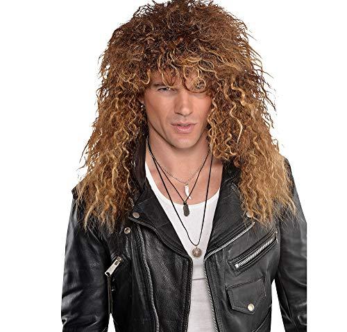 80s Rocker Spiral Waves Wig for Men