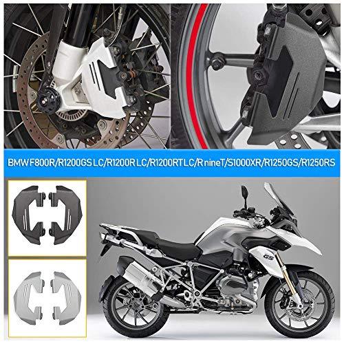 Motorrad Aluminium Vorderradbremssattel Schutzabdeckung Schutz für B-M-W F800R R1200GS LC ADV R1200R R1200RS LC R1200RT R NineT S1000XR R1250GS Adventure R1250R R1250RS R1250RT Teile (Silber)