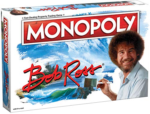 Monopoly Bob Ross | Based on Bob Ross Show The Joy of Painting | Collectible Monopoly Game Featuring...