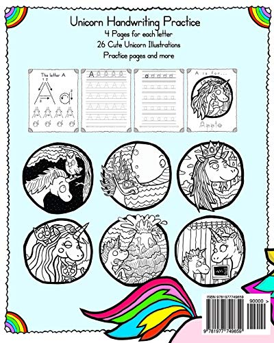 Unicorn Handwriting Practice: Letter Tracing Workbook (Little Learner Workbooks) 3