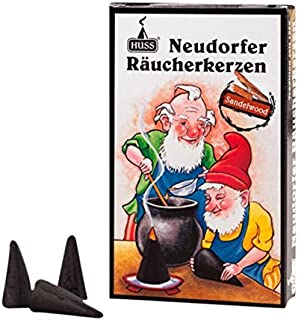 HUSS Incense Cones for German Incense Smoker - Sandalwood - Eco-Friendly Handmade in Germany