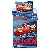 Disney Cars Parure de lit Housse de Couette 140 x 200 cm et sa taie d'oreiller 70 x 90 cm