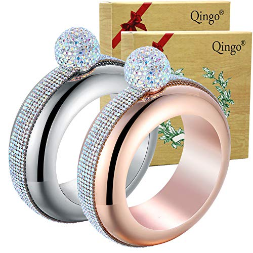Qingo Bracelet Flask Bangle Creative Stainless 304 Steeland Hip Funnel Set...