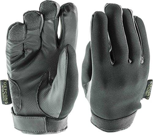 DEFCON 5 Tattoo-Handschuhe, Multiuso Navy Assault Forces aus Neopren, Unisex, Schwarz, L