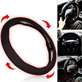 Car Black Heated Steering Wheel Cover Interior Accessories Gifts...