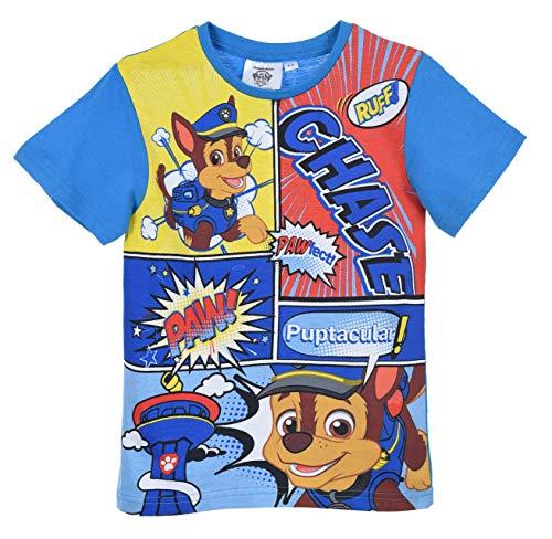 Paw Patrol Jungen Kurze àrmel T Shirt, Blau, 3 Jahre