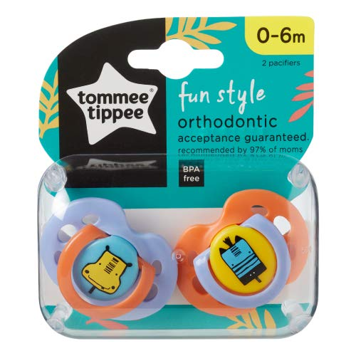 Diversión Estilo de Ortodoncia Chupetes de Tommee Tippee 0-6m sin Bpa (Hippo / Cebra )