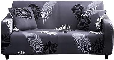 HOTNIU 1 pièce Stretch Canapé Couvre Couvre - Housse de canapé imprimé Couchette en Spandex - Housse/protège-Bras pour Fauteu