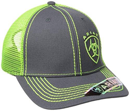 Ariat Men's Clean Neon Corner Logo, Black/Lime, One Size