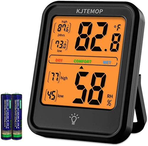 Termometro ambiente Igrometro digitale Indicatore del misuratore di umidità Termometro per interni Monitor della temperatura e dell\'umidità della stanza con retroilluminazione per l\'ufficio domestico