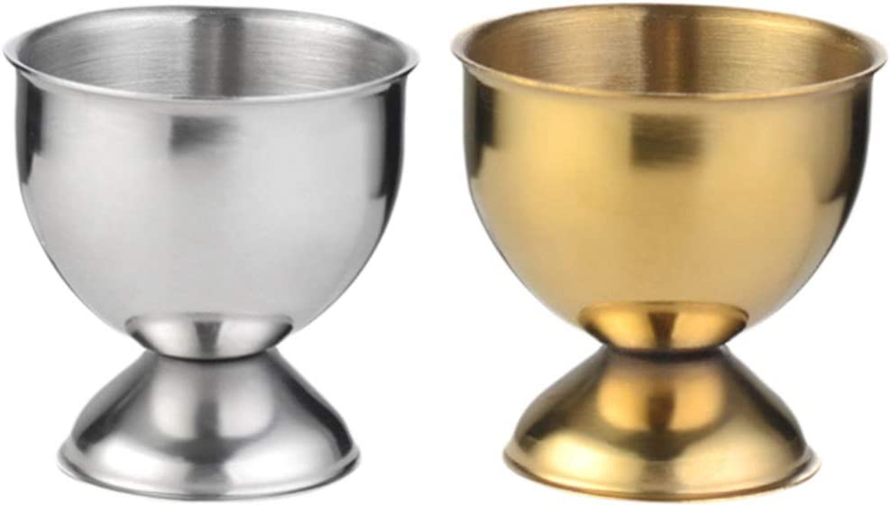 Hemoton 2Pcs Stainless Steel Egg Cup Serving Tray Holder Seasonal New Orleans Mall Wrap Introduction