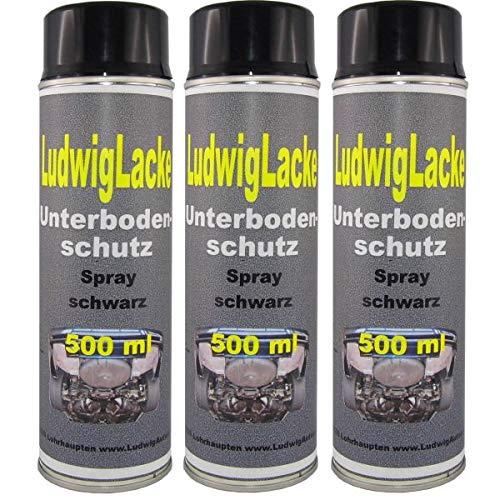 3 x 500 ml Spray Profi Unterbodenschutz schwarz Nicht überlackierbar
