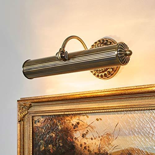 Lindby Wandleuchte, Wandlampe Innen 'Joely' dimmbar (Retro, Vintage, Antik) in Bronze aus Metall u.a. für Wohnzimmer & Esszimmer (2 flammig, E14, A++) - Bilderleuchte, Wandstrahler, Wandbeleuchtung