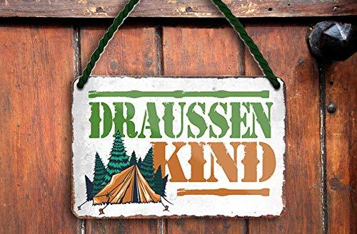 schilderkreis24 Cartel de chapa con texto en alemán