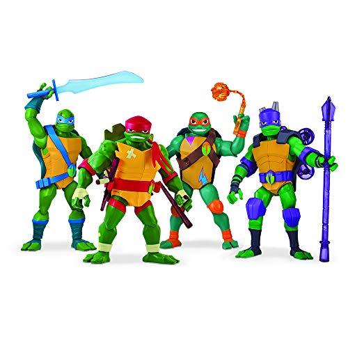Personaggi giganti 30 cm di altezza Include sempre 2 armi e 2 stelle ninja per lanciare nuovi look e nuovi colori 2 modelli diversi che saranno assortiti a seconda della disponibilità