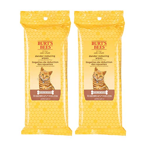Burt's Bees for Cats Dander Reducing Wipes