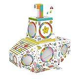 TikTakToo Spielhaus aus Pappe U-Boot mit Licht und Sound Pappspielhaus zum Bemalen und Dekorieren...