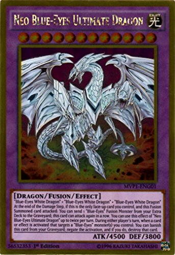 YU-GI-OH! - Neo Blue-Eyes Ultimate Dragon (MVP1-ENG01) - The Dark Side of Dimensions Movie Pack Gold Edition - 1st Edition - Gold Rare