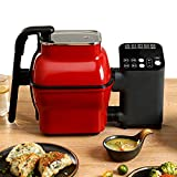 Máquina De Cocción Automática, Cocción Perezosa, Máquina De Arroz Frito, Robot De Cocina, Máquina De Cocción Doméstica Multifunción, Cocción Al Vapor, Freír, Guisar,Rojo