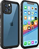LOVE BEIDI Design for iPhone 12 Pro Max Waterproof case 6.7'', Full Body Shockproof Case for iPhone 12 Pro Max Case with Screen Protector, Dust Proof Phone Cover for iPhone 12 Pro Max (Black-Clear)