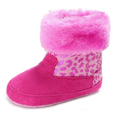 Anrenity Infant Baby Boys Girls Winter Warm Snow Boots Newborn First Walker Outdoor Shoes BBS-020 Hot Pibk 11