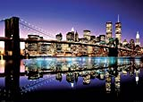 Close Up New York XXL Poster Skyline Brooklyn Bridge by