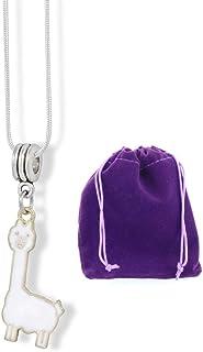قلادة اللاما | قلادة مجوهرات ساحرة هدية للنساء والرجال اكسسوارات الألبكة اللاما لاما لاما