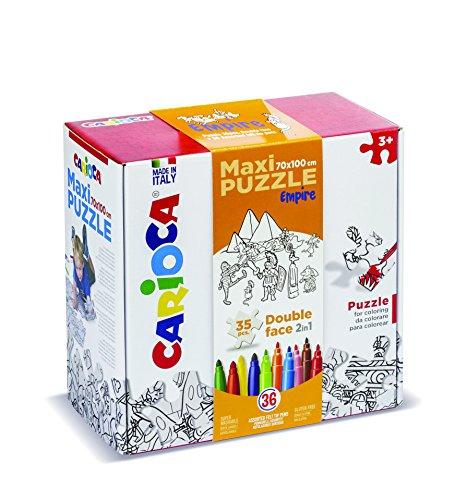 Carioca Maxi Puzzle Empire 35 Piezas Y 36 Rotuladores, Multicolor
