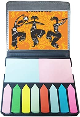 Dance People Mexico Totems Mexican Flute Self Stick Note Color Page Marker Box