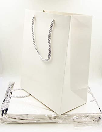 White paper bags in package of 12 pieces