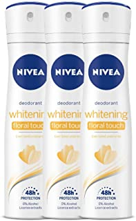 Nivea Whitening Floral Deodorant For Women, 150 ml (Pack of 3)