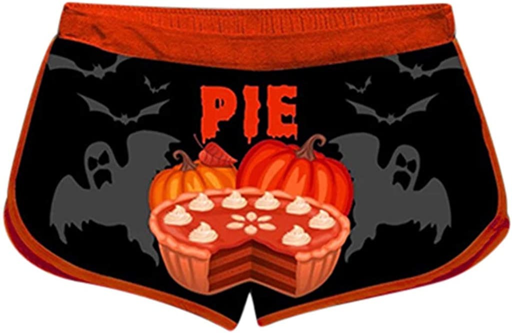 LEKODE Women Pumpkin Letter Print Fashion Vest Set Halloween Shorts Suit
