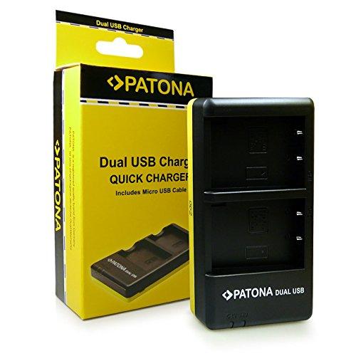 PATONA Cargador Doble para BLS-5 Bateria Compatible con Olympus E-450 OMD E-M10 Pen E-PL5 E-PL6 E-PL7 Stylus 1
