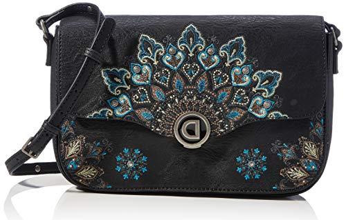 Desigual Accessories PU Across Body Bag, Bolsa para Cuerpo Mujer, verde, U