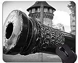 Yanteng Cojín de ratón Original de Encargo de la Serie del Leopardo, cojín de ratón Divertido del Arma del Arma con el Borde Cosido