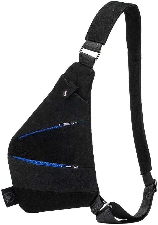 Gowind7 Women Leather Handbag Shoulder Bag Shoulder Chest Bags Men Crossbody Leather Messenger Belt Packs