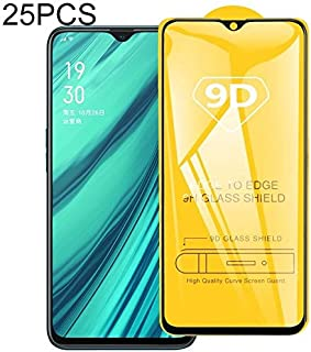 YPZHEN Compatible with 25 PCS 9D Full Glue Full Screen Tempered Glass Film For OPPO Realme C1 Screen Protector Foils