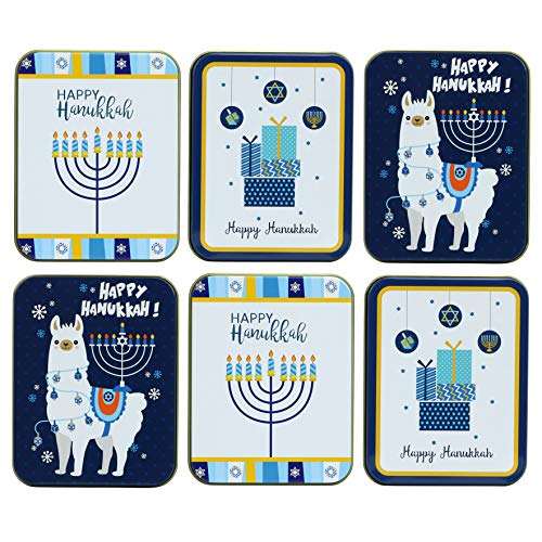 Iconikal Gift Card Tins, Hanukkah, 6-Pack