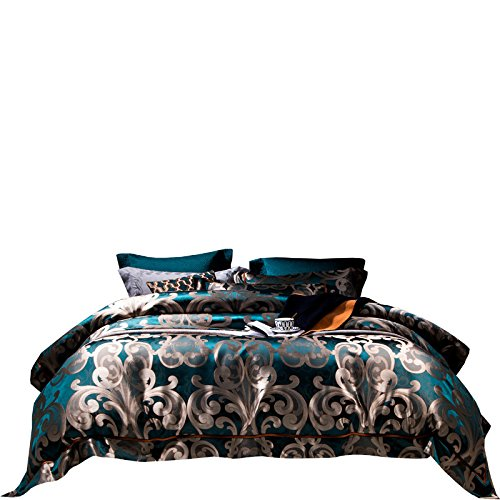 Learn More About BB.er Home textile luxury villas high-end wide heavy silk mulberry blue bedding yar...
