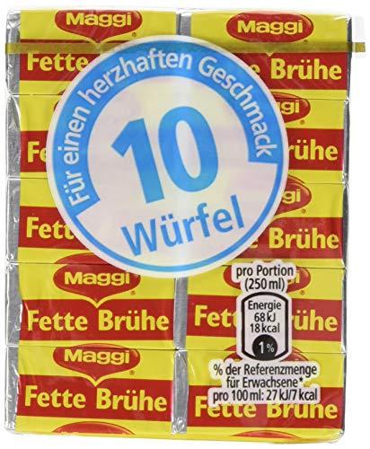 Maggi Fette Brühe (1 Packung mit 10 Würfel x 10 g)